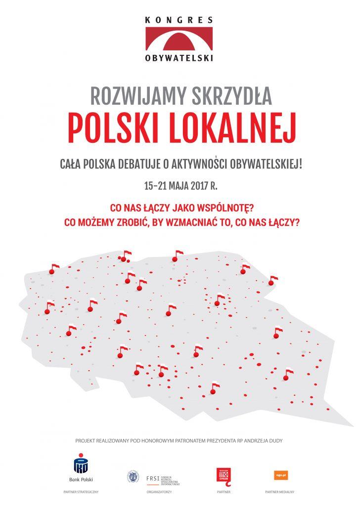 plakat Rozwijamy Skrzydła Polski Lokalnej
