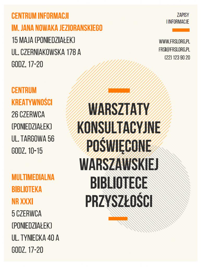 zaproszenie na konsultacje - warszawska biblioteka przyszłości